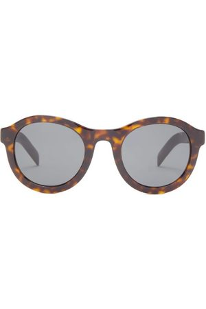 Prada Round Tortoiseshell-effect Acetate Sunglasses - Mens - Tortoiseshell
