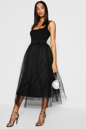 Boohoo Womens Tall Boutique Tulle Mesh Midi Skirt - - 4