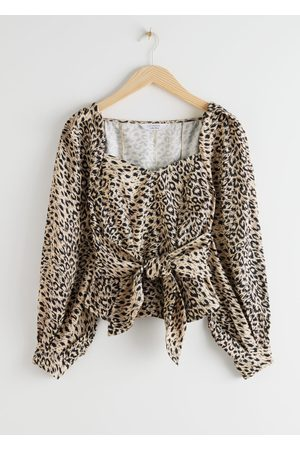 & OTHER STORIES Women Blouses - Leopard Knot Tie Blouse