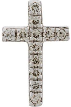 Sydney Evan 14kt white cross diamond stud earring