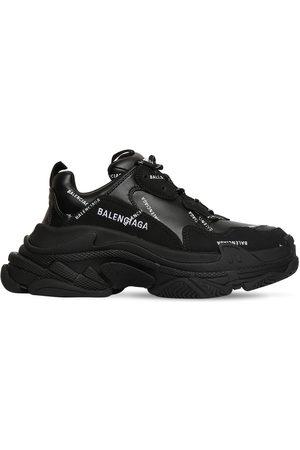 Balenciaga 60mm Triple S Faux Leather Sneakers