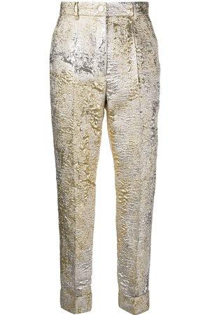 Dolce & Gabbana Women Pants - Jacquard-knit cropped trousers