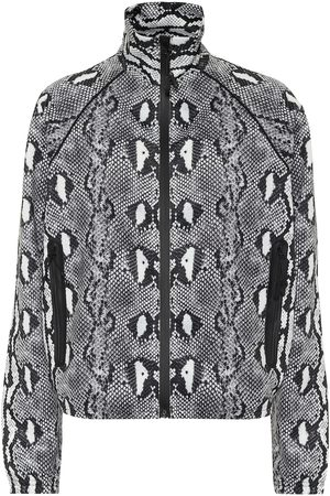 Adam Selman Sport Snake-print track jacket