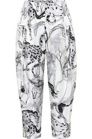 Stella McCartney Rosalinda printed silk pants