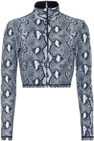 Adam Selman Sport Snake-print sports top