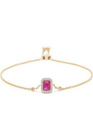 Anissa Kermiche July Diamond, Ruby & Gold Chain Bracelet - Womens