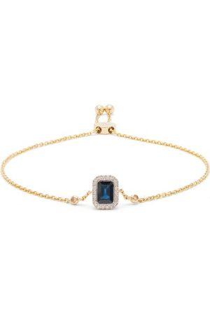 Anissa Kermiche September Diamond, Sapphire & Gold Chain Bracelet - Womens