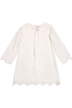 Oscar de la Renta Girls Beach Dresses - Cotton Lace Caftan
