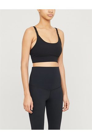 LORNA JANE Core logo-print stretch-jersey maternity sports bra