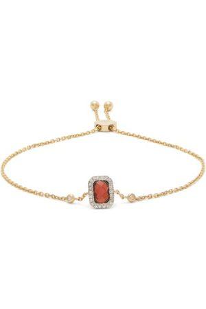 Anissa Kermiche Women Bracelets - January Diamond, Garnet & Gold Chain Bracelet - Womens