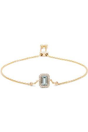 Anissa Kermiche Women Bracelets - March Diamond, Aquamarine & 14kt Gold Bracelet - Womens - Light
