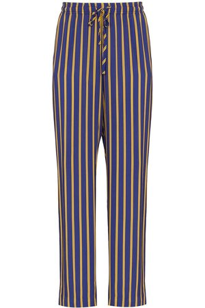 ESTEBAN CORTAZAR Drawstring waist striped trousers