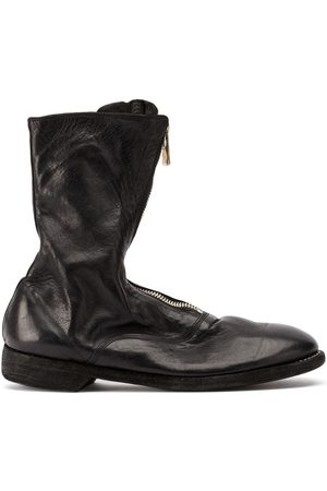GUIDI Zipped low-heel ankle boots