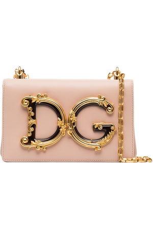 Dolce & Gabbana Women Shoulder Bags - DG Girls logo-embellished leather shoulder bag