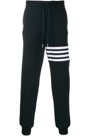Thom Browne Men Sweatpants - 4-Bar waffle stitch track pants