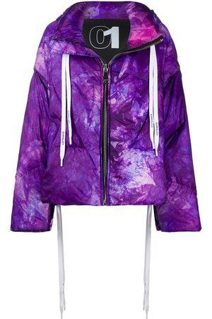 Khrisjoy Women Puffer Jackets - Tie-dye padded jacket