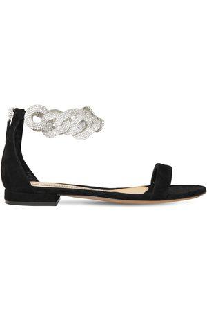 ALEXANDRE VAUTHIER Women Flat Shoes - 15mm Suede Flat Sandals