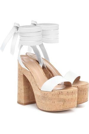 Gianvito Rossi Ambra leather platform sandals