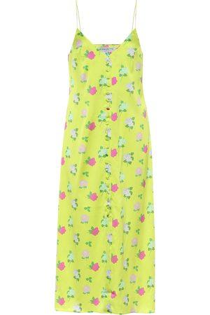 Bernadette Hailey floral silk-satin slip dress