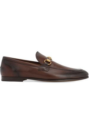 Gucci Jordaan Horsebit Leather Loafers