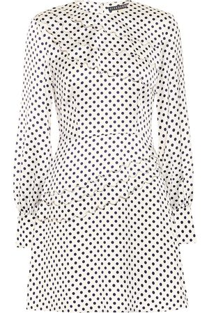 AlexaChung Lilian polka-dot satin minidress