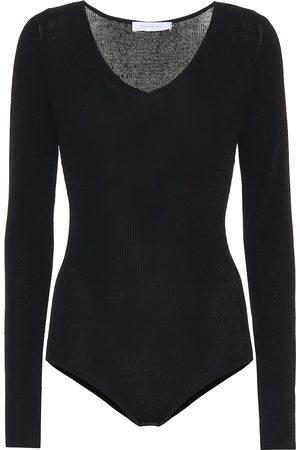 RYAN ROCHE Stretch-knit bodysuit