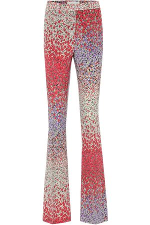 Etro Printed high-rise flared silk pants