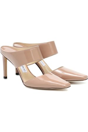 Jimmy choo Hawke 85 patent leather mules