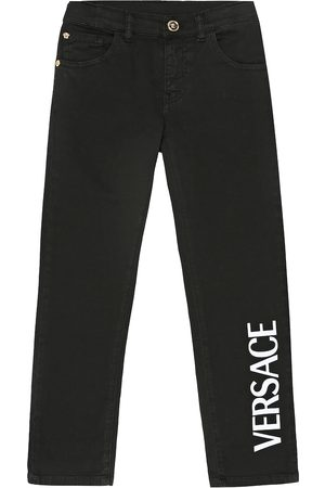 VERSACE Logo straight jeans