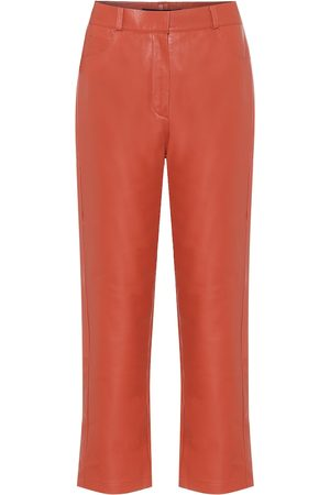Zeynep Arcay High-rise straight leather pants