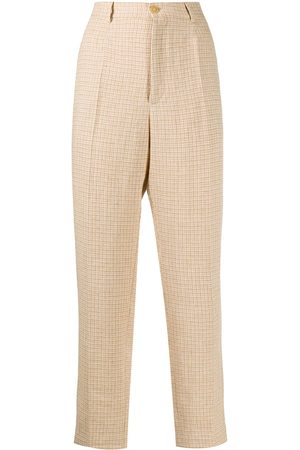 FORTE FORTE Check print trousers - Neutrals