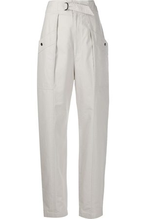 Isabel Marant High-waisted tapered trousers - NEUTRALS