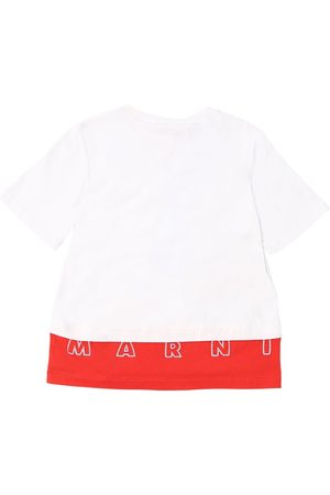 Marni Jersey T-shirt W/ Embroidered Logo