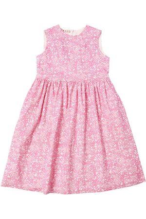 Marni Flower Print Cotton Blend Dress