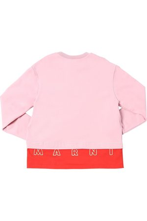 Marni Cotton Sweatshirt W/ Embroidered Logo