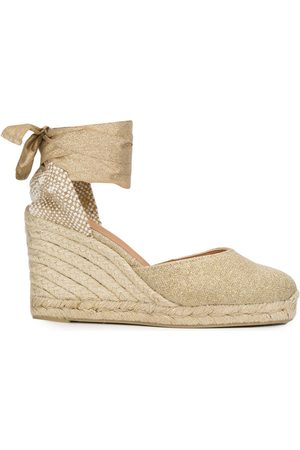 Castaner Women Wedges - Carina lace-up wedge espadrilles - Neutrals