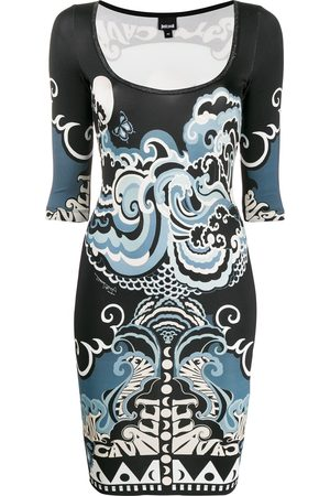 Just Cavalli Women Bodycon Dresses - Abstract-print fitted dress