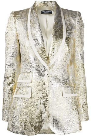Dolce & Gabbana Metallic textured blazer