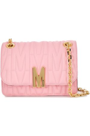 Moschino Logo-plaque quilted shoulder bag