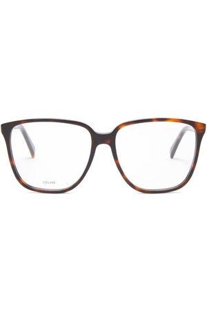 Celine Eyewear Oversized Tortoiseshell-effect Acetate Glasses - Womens - Tortoiseshell