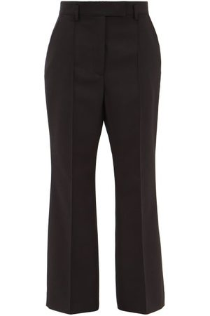 Acne Studios Patrina Flared Wool-blend Trousers - Womens
