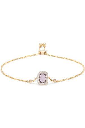 Anissa Kermiche February Diamond, Amethyst & Gold Chain Bracelet - Womens