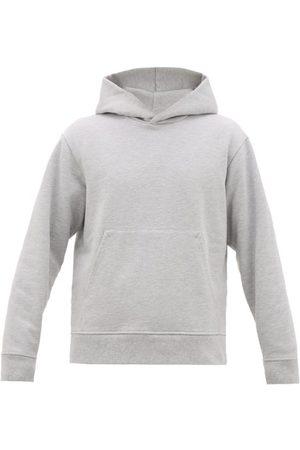 Acne Studios Forres Logo-label Cotton-blend Hooded Sweatshirt - Mens - Light Grey