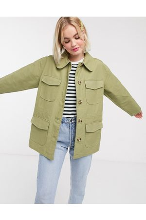Monki Waisted utility jacket in