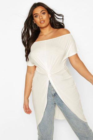 Boohoo Womens Plus Off The Shoulder Twist Maxi Top - - 12