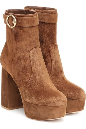 Gianvito Rossi Women Ankle Boots - Suede platform ankle boots
