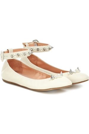 Simone Rocha Women Ballerinas - Embellished leather ballet flats