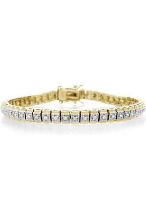 SuperJeweler Women Bracelets - GoldPlated 1/2 Carat Diamond Vintage Inspired Tennis Bracelet