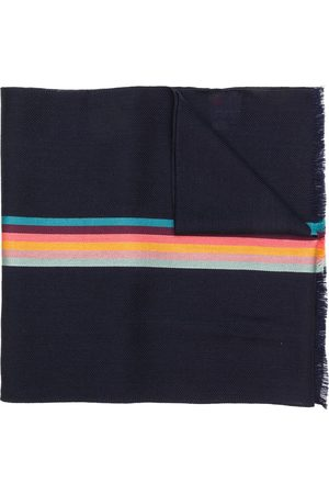 Paul Smith Artist Stripe band herringbone scarf