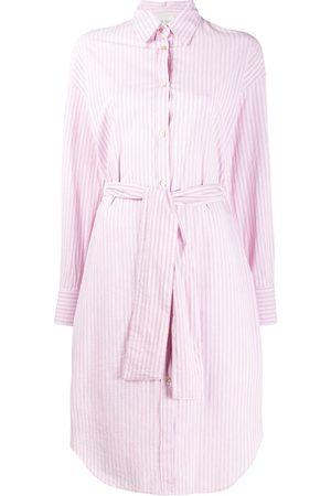 FORTE FORTE Belted striped shirt dress